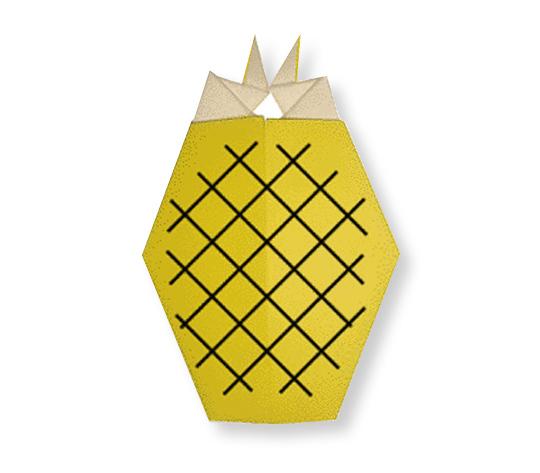 おりがみくらぶ(新宮文明)さんによるぱいなっぷるの折り紙