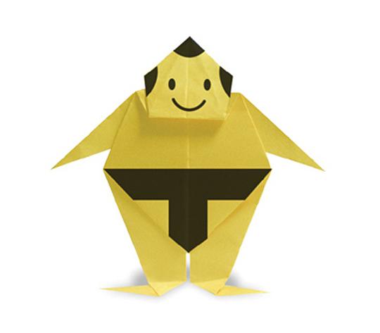 おりがみくらぶ(新宮文明)さんによるりきしの折り紙