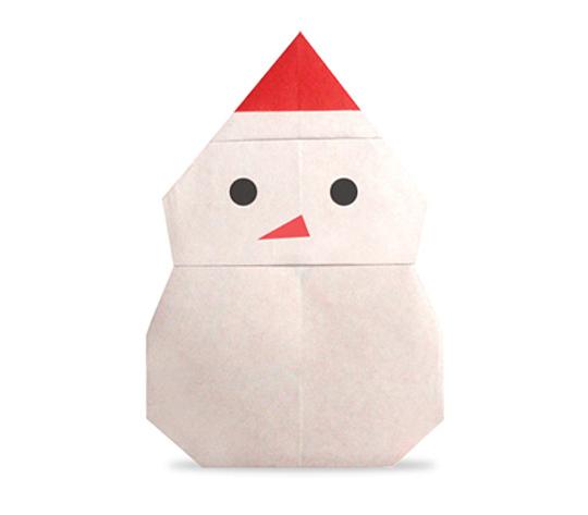 おりがみくらぶ(新宮文明)さんによるゆきだるま2の折り紙