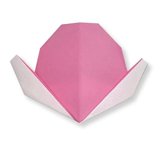 おりがみくらぶ(新宮文明)さんによるももの折り紙