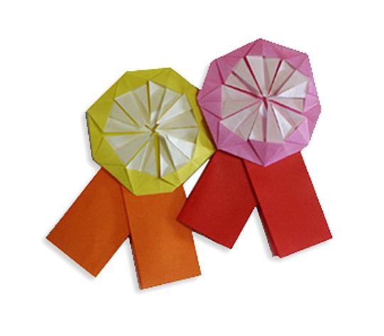 おりがみくらぶ(新宮文明)さんによるめだるの折り紙
