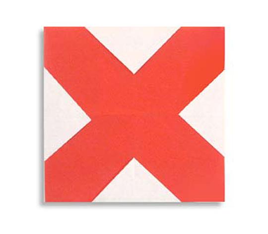 おりがみくらぶ(新宮文明)さんによるX(えっくす)の折り紙