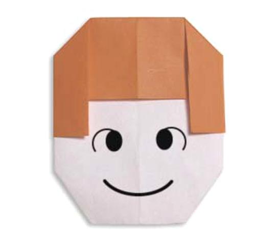 おりがみくらぶ(新宮文明)さんによるおんなのこの折り紙