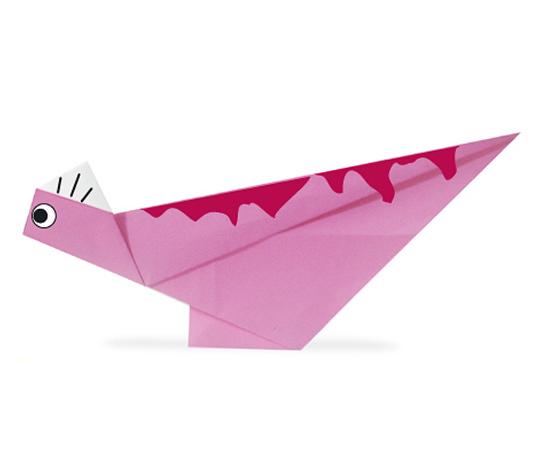 おりがみくらぶ(新宮文明)さんによるこりとさうるすの折り紙