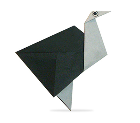 おりがみくらぶ(新宮文明)さんによるだちょうの折り紙