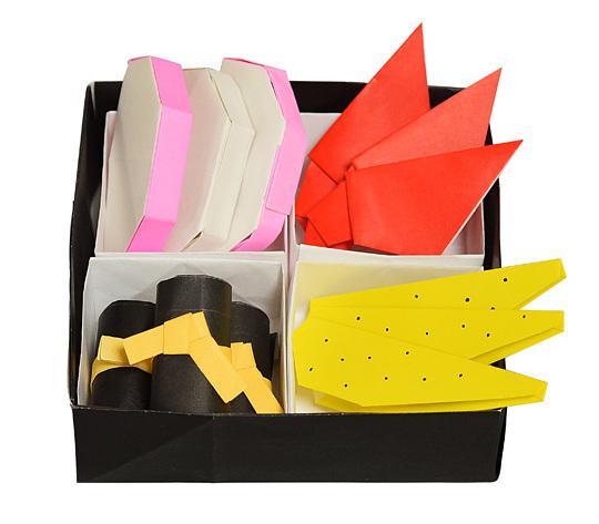 おりがみくらぶ(新宮文明)さんによるおせちの折り紙