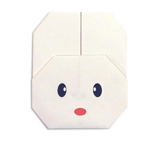 おりがみくらぶ(新宮文明)さんによるうさぎのかお2の折り紙