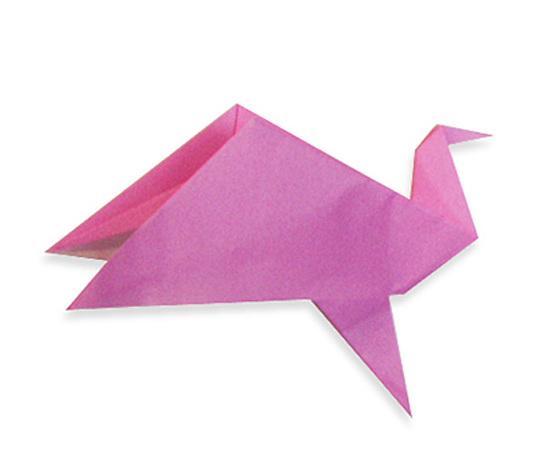 おりがみくらぶ(新宮文明)さんによるうごくとりの折り紙
