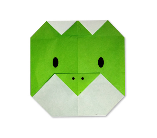 おりがみくらぶ(新宮文明)さんによるかっぱのかお2の折り紙