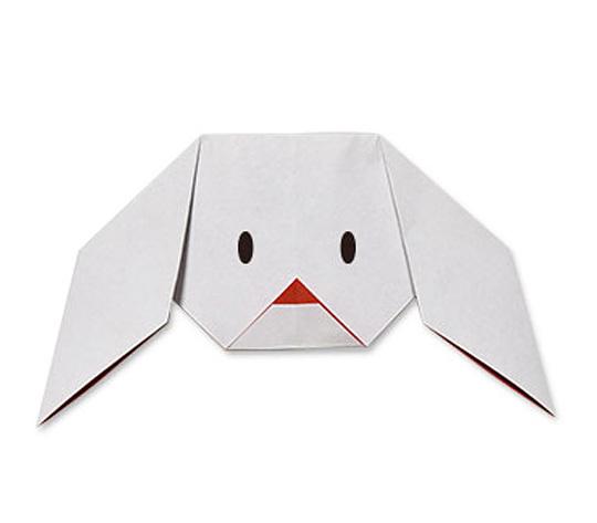 おりがみくらぶ(新宮文明)さんによるぷーどるのかおの折り紙