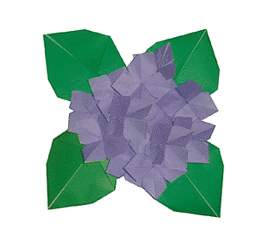 おりがみくらぶ(新宮文明)さんによるあじさいの折り紙