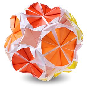 おりがみくらぶ(新宮文明)さんによるオレンジの折り紙
