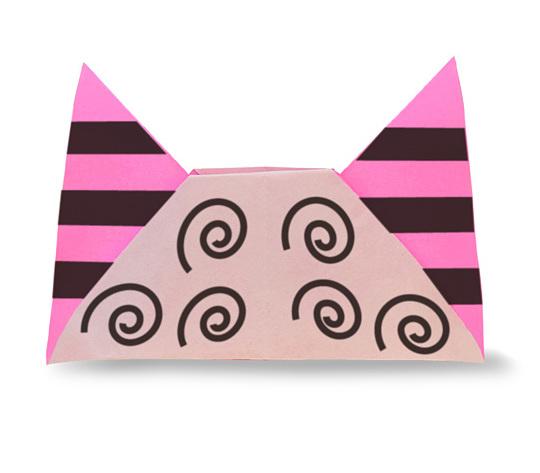 おりがみくらぶ(新宮文明)さんによるおにのぼうしの折り紙