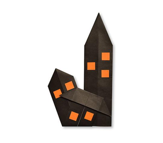 おりがみくらぶ(新宮文明)さんによるゆうれいやしきの折り紙