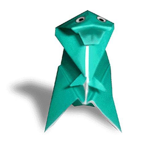おりがみくらぶ(新宮文明)さんによるてぃらのさうるすの折り紙