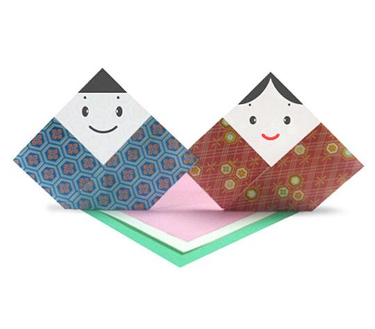 おりがみくらぶ(新宮文明)さんによるひな人形の折り紙