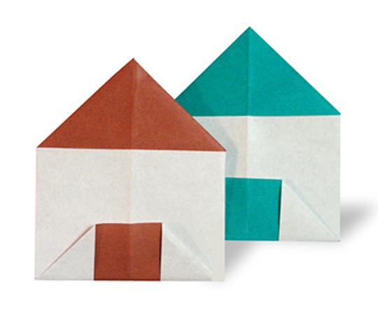 おりがみくらぶ(新宮文明)さんによるいえの折り紙