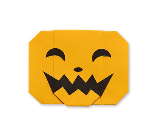 おりがみくらぶ(新宮文明)さんによるかぼちゃのおばけ2の折り紙