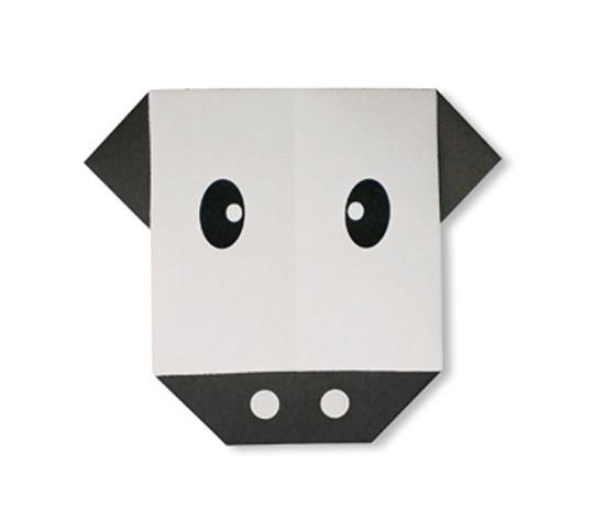 おりがみくらぶ(新宮文明)さんによるうしのかおの折り紙