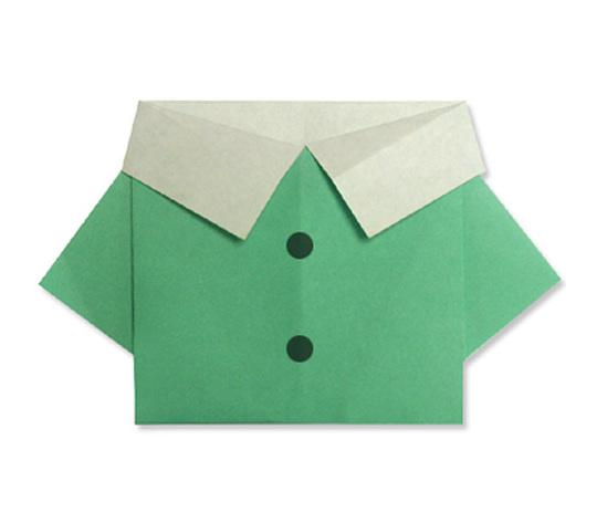 おりがみくらぶ(新宮文明)さんによるしゃつの折り紙