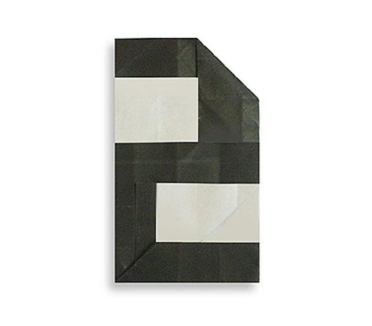 おりがみくらぶ(新宮文明)さんによる2(に)の折り紙