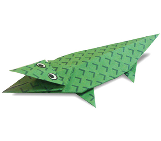 おりがみくらぶ(新宮文明)さんによるわに2の折り紙