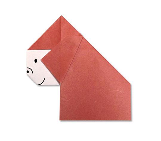 おりがみくらぶ(新宮文明)さんによるごりらの折り紙