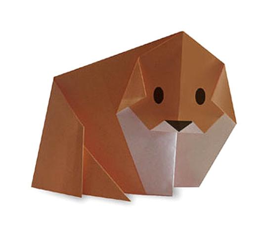 おりがみくらぶ(新宮文明)さんによるいぬ2の折り紙