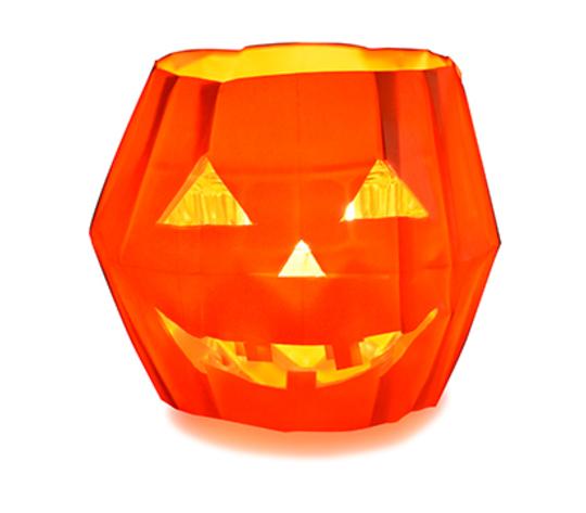 おりがみくらぶ(新宮文明)さんによるかぼちゃのランプの折り紙