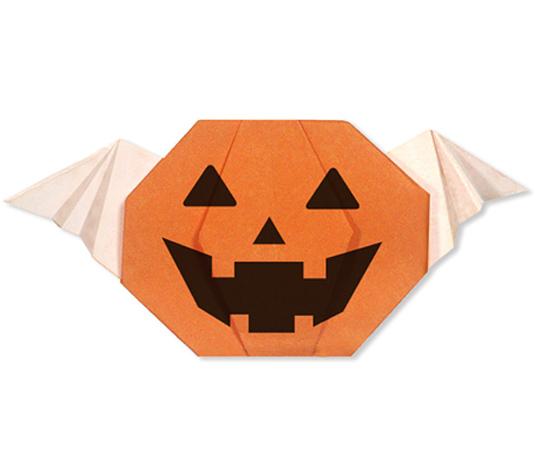 おりがみくらぶ(新宮文明)さんによるはねつきかぼちゃのおばけの折り紙