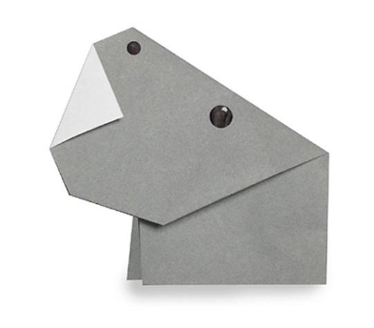 おりがみくらぶ(新宮文明)さんによるかばの折り紙