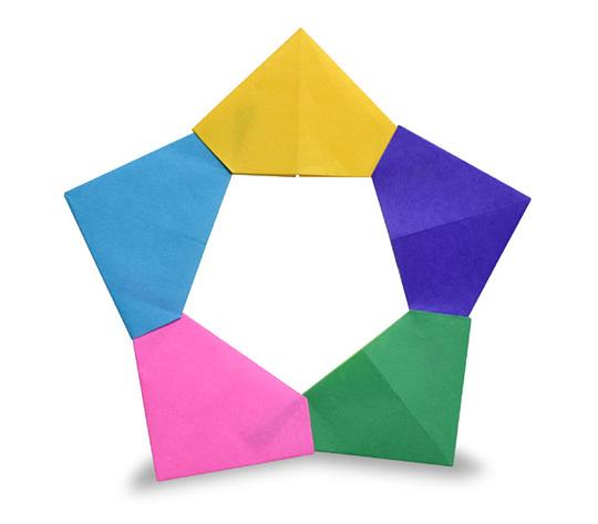 おりがみくらぶ(新宮文明)さんによるゆにっと すたーの折り紙