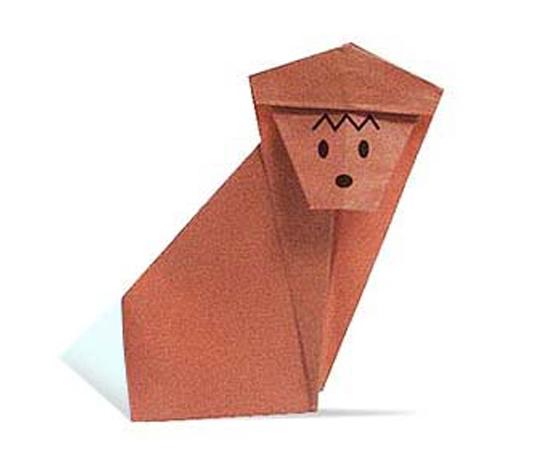 おりがみくらぶ(新宮文明)さんによるさるの折り紙
