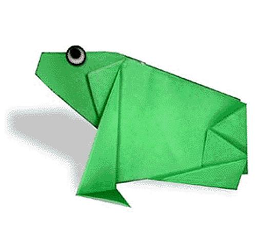 おりがみくらぶ(新宮文明)さんによるかえるの折り紙