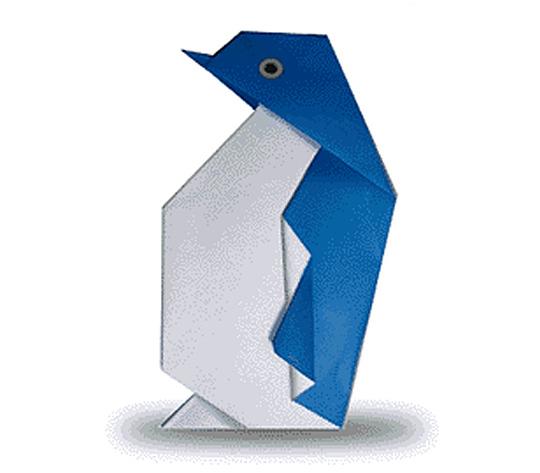 おりがみくらぶ(新宮文明)さんによるぺんぎんの折り紙