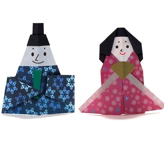 おりがみくらぶ(新宮文明)さんによるひな人形5の折り紙