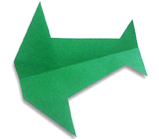 おりがみくらぶ(新宮文明)さんによるつばくろひこうきの折り紙