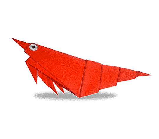 おりがみくらぶ(新宮文明)さんによるえびの折り紙