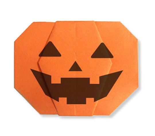 おりがみくらぶ(新宮文明)さんによるかぼちゃおばけの折り紙