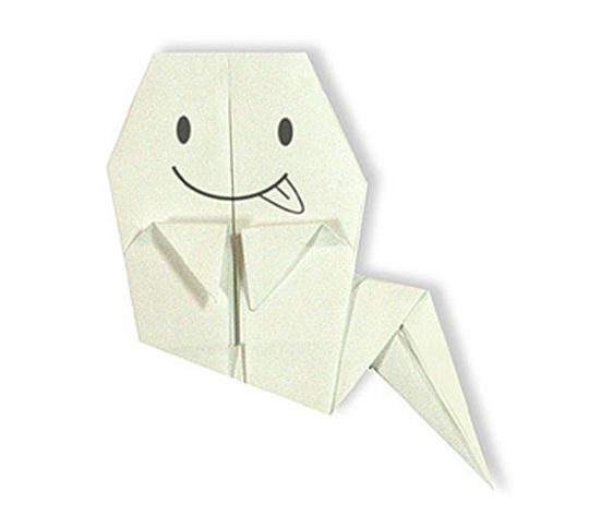 おりがみくらぶ(新宮文明)さんによるおばけの折り紙