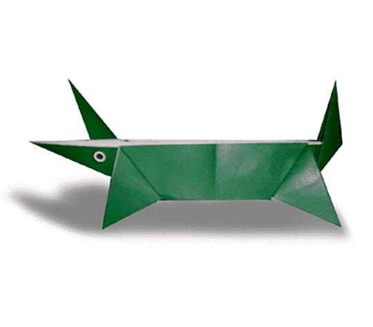 おりがみくらぶ(新宮文明)さんによるわにの折り紙