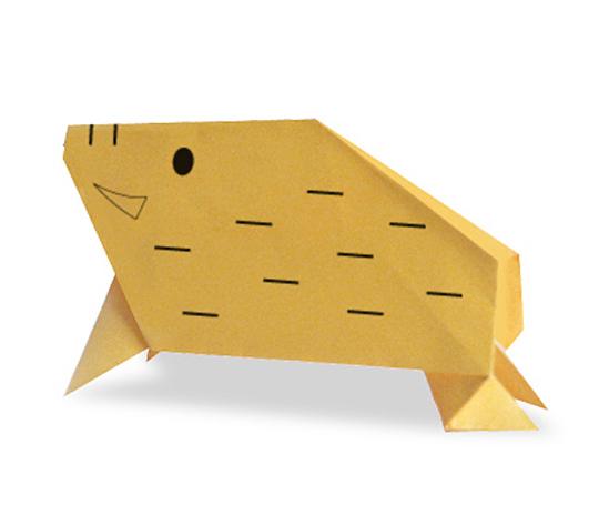 おりがみくらぶ(新宮文明)さんによるいのししの折り紙