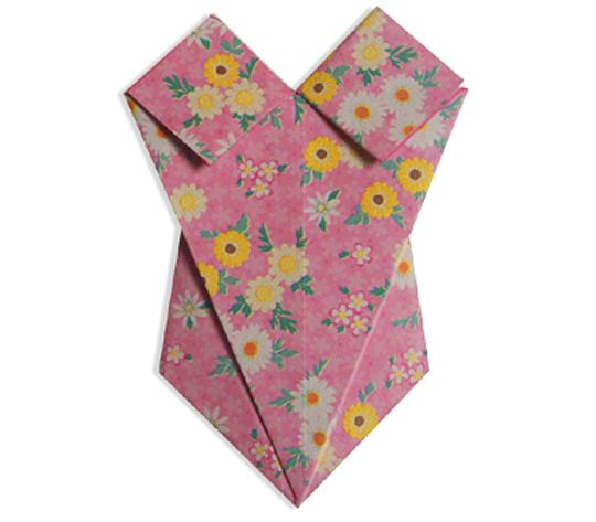 おりがみくらぶ(新宮文明)さんによるみずぎの折り紙