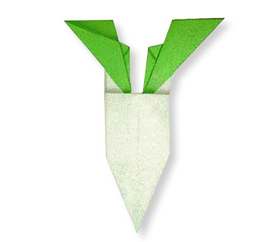 おりがみくらぶ(新宮文明)さんによるだいこんの折り紙