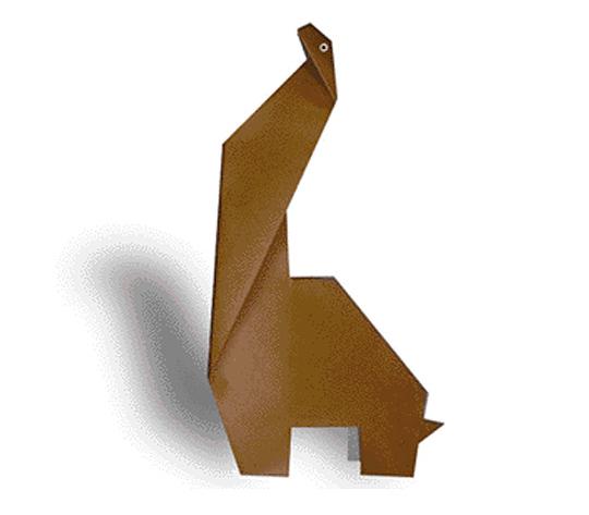 おりがみくらぶ(新宮文明)さんによるぷらきおざうるすの折り紙