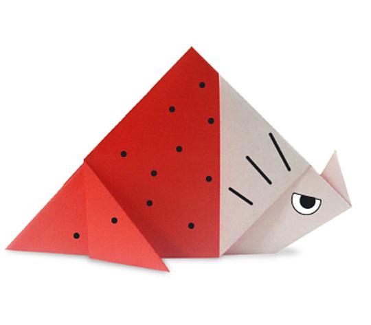 おりがみくらぶ(新宮文明)さんによるとりけらとぷすの折り紙
