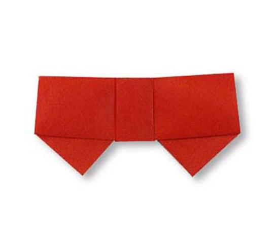 おりがみくらぶ(新宮文明)さんによるりぼん1の折り紙