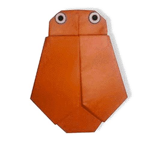 おりがみくらぶ(新宮文明)さんによるあぶらぜみの折り紙