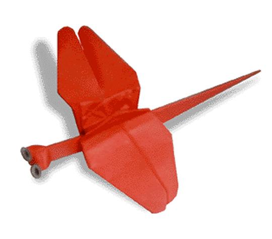 おりがみくらぶ(新宮文明)さんによるあかとんぼの折り紙