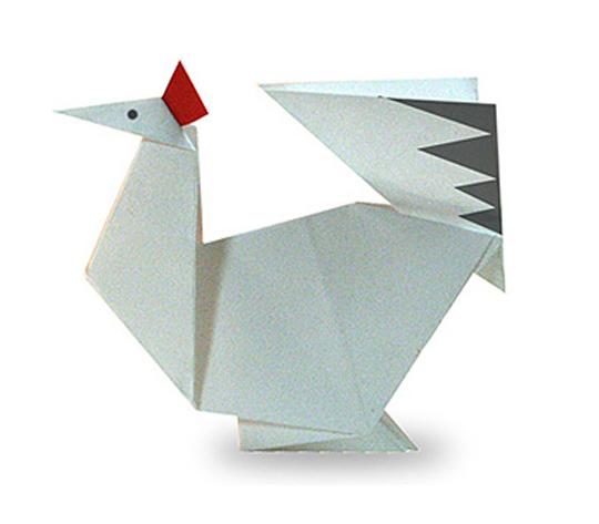 おりがみくらぶ(新宮文明)さんによるにわとり2の折り紙